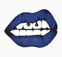 Blue lips by MZawesomechic