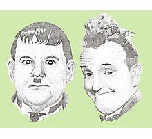 Laurel and Hardy Photographic Print