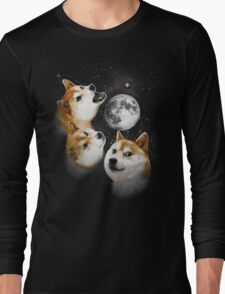 Three Doge Moon Long Sleeve T-Shirt