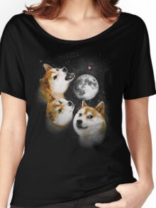 Three Doge Moon Women's Relaxed Fit T-Shirt