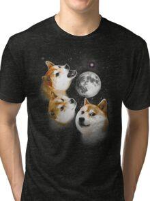 Three Doge Moon Tri-blend T-Shirt