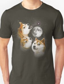 Three Doge Moon Unisex T-Shirt