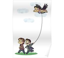 Team Free Kite Flying Poster