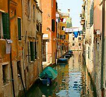 Venice Waterway colorful by carlacarlacarla
