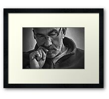 Study At Morning Coffee Framed Print