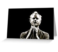 The National - Matt Berninger Greeting Card