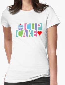 Cupcake love pink 4 Womens Fitted T-Shirt