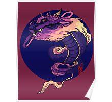Cotton Candy Dragon Poster