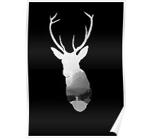 Stag Head Landscape Poster