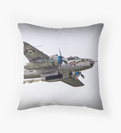 Take Off Time - B25 Throw Pillow