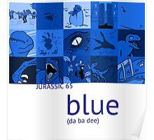 Jurassic 65 - Blue Poster