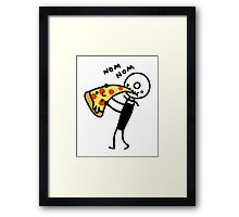 Hungry Pizza Cutter Framed Print