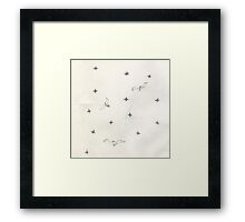 midnight flight Framed Print