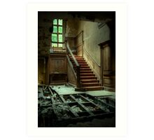 Potters Manor House - stairs Art Print