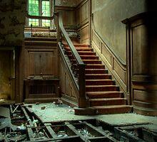 Potters Manor House - stairs by Agnieszka  Szymczak