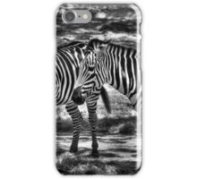 Two Zebras Together iPhone Case/Skin