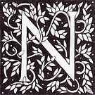 William Morris Inspired Letter N (Ebay Listed) by Donnahuntriss