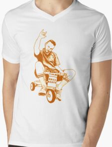 Man on a Tricycle Mens V-Neck T-Shirt