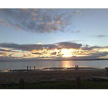 Winter Sunset at Coronet Bay, Victoria, Australia Photographic Print