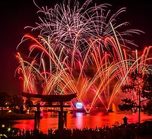 Epcot Fireworks - Illuminations Reflections of Earth by jjacobs2286