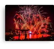 Epcot Fireworks - Illuminations Reflections of Earth Canvas Print