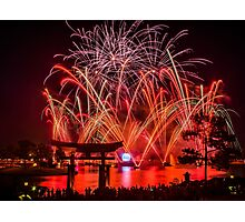 Epcot Fireworks - Illuminations Reflections of Earth Photographic Print