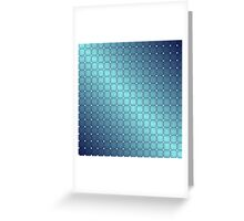 Blue Metallic Tiles Greeting Card