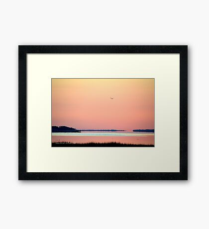 Pink Dawn | Flanders, New York Framed Print