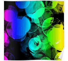 Bright Colorful Rainbow Abstract Poster