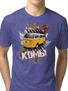Volkswagen Tee Shirt - Two Tone Kombi Tri-blend T-Shirt