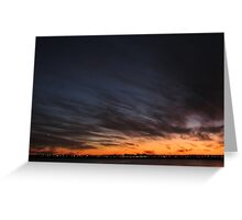 Jet Stream Sydney Sunset - Riviera Visual Greeting Card