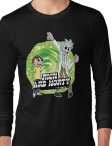 Rick and Morty vs The World Long Sleeve T-Shirt