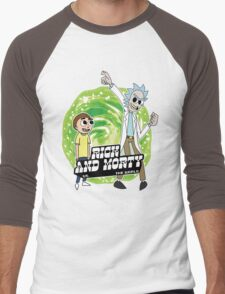 Rick and Morty vs The World Men's Baseball ¾ T-Shirt