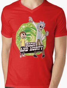 Rick and Morty vs The World Mens V-Neck T-Shirt