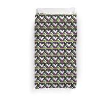 Crazy quilt with white Duvet Cover