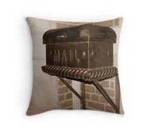 Antique Mail Throw Pillow
