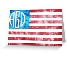 AGD American Flag Greeting Card