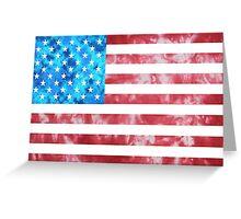 Tie Dye American Flag Greeting Card