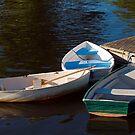 Three Row Boats by Monica M. Scanlan