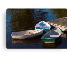 Three Row Boats Canvas Print