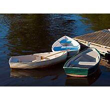 Three Row Boats Photographic Print