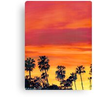 Red Sunset In San Diego Picture Canvas Print