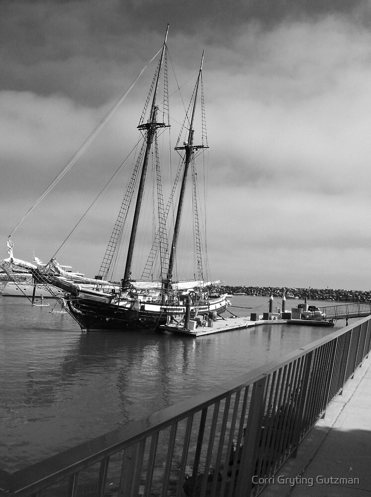 Clipper Type Ship at Dana Point Harbor by Corri Gryting Gutzman