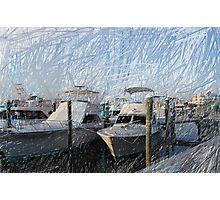 Two Nice Yachts Photographic Print