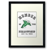 Fellowship (White Tee) Framed Print