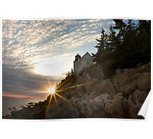 Bass Harbor Head Lighthouse at Sunset Poster