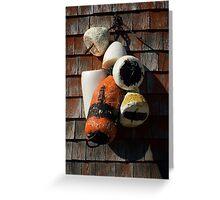 Lobster floats ~ Peggy's Cove Nova Scotia Greeting Card