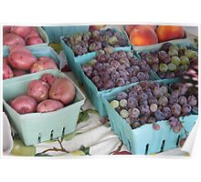 Peaches, Grapes, and Taters Poster