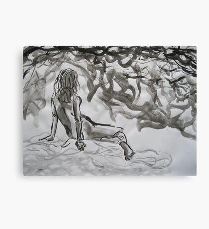 Seated Figure Canvas Print