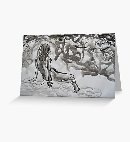 Seated Figure Greeting Card